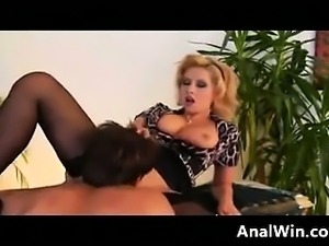 Bushy Blonde German Fucked In The Butt