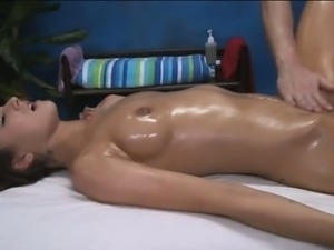 Attractive gal is playing with cock