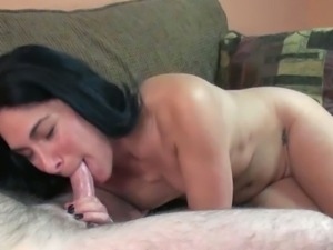 Brunette wife Cleo Leroux fucked by the geek