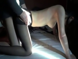 Young sexy wife in doggy