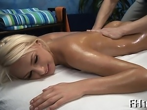 Gorgeous gal receives all holes team-fucked