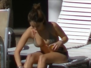 Bikini Slut Puts On Quite A Show