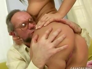 Lucky grandpa fucks hot young girl