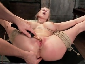 sex slave gets her clit shocked