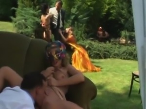 Maya Gold\'s outdoor Anal Party