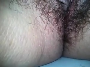 Close Up Of This Housewifes Very Hairy Pussy