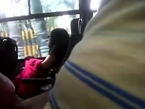 Guy Exposing His Cock For This Girl On A Bus