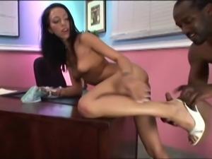 Skinny brunette likes anal