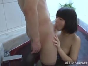 slutty japanese gets her face cummed