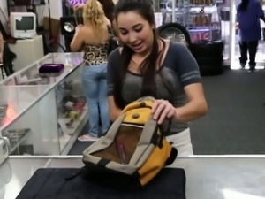 Real pawnshop fucking with cute teen amateur