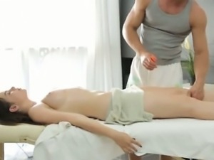 Big breast Russian woman gets a sensual massage
