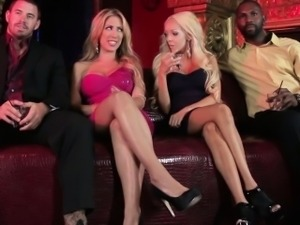 Lezdom Taylor Vixens hairy pussy strapon fun