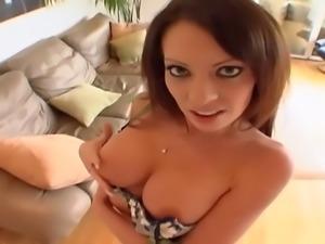 Vanessa fucked in panties and thigh high nylon