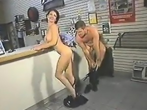Sucking And Anal At The Parts Store Classic