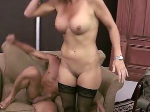 Rhylee Richards is a hot milf slut ready to suck Tommy Gunns big gun and get...