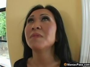 Asian mom seduces hot gardener free