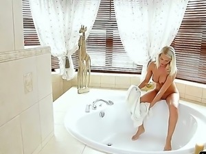 Great action is waiting for you here! Guy was sleeping when his sexual blonde...