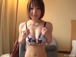 Amateur beauty from Japan getting the dick for her sweet vagina