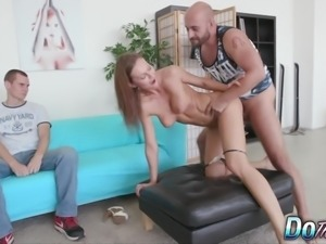 Hot wife fucks and takes cum in her mouth