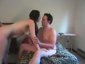 Curvy girlfriend first time shared