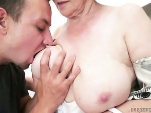 Mature is on fire in steamy