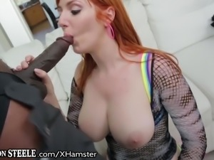 Curvy Redhead Can Barely Handle this HUGE BBC