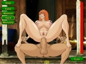 cartoon redhead has massive boobs