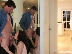 Jessica loves her stepdad a lot. Why wouldn't she? She is horny and he often...