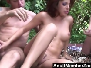 AdultMemberZone - Latina Hottie Sativa Rose Gets Spitroasted