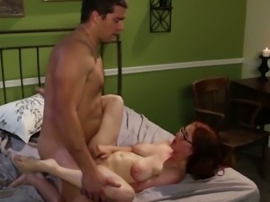 Gorgeous red head Penny Pax sucks and fucks like nobody else before