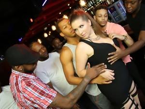 Black Cock Slut Alex Chance Does Interracial Ganbang
