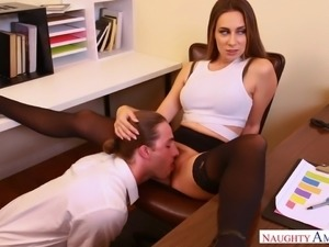 Cassidy meets up with Lucas in the break room, then comes to his office,...