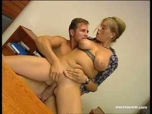 Naturally busty Czech babe Krystal De Boor loves to be on top