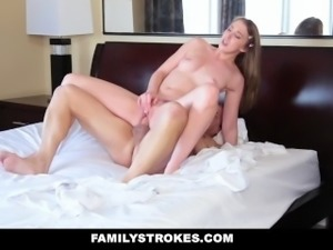 FamilyStrokes- Hot Teen Blackmails & Fucks Panty Sniffing Step-Dad