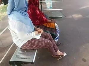 Compilation candid arabic feet and footjob.