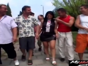 Melissa Lauren and Noemi seduced by a bunch of guys for some fun