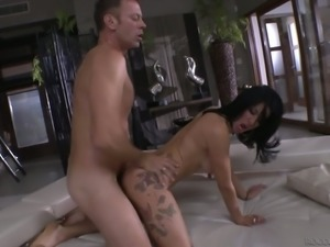 Horny stud Rocco Siffredi fucks lecherous seductress Valeria Visconti
