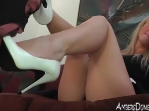 Amazon blonde femdom Mistress in hard core action