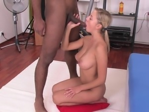 Busty Russian Teen Takes Black Penis