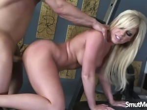 Super sexy blonde fucked hard