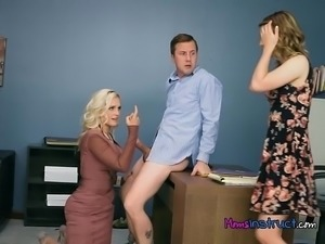 Stepmom Coaches Teen How To Properly Suck Cock