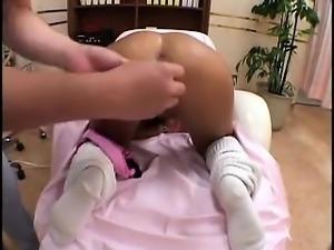 Adorable Japanese girls enjoying intense orgasms on the mas