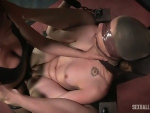 Zoey Laine can't see shit and she is completely at the mercy of her mistress