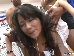 Chiharu Nakai loves sex toys and she knows what blowgang session means