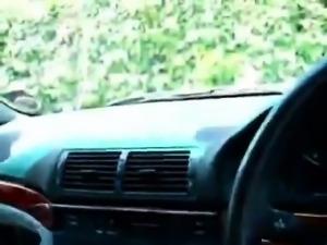 UK Car blowjob with blonde mom Kathey