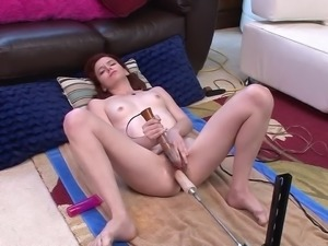 Hot Hairy Redhead and her feet