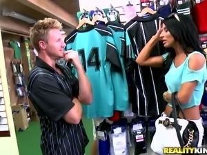Brunette Soccer Mom Sophia Bella Fucked Hard in Sports Store