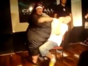 SSBBW granny nun stripper!