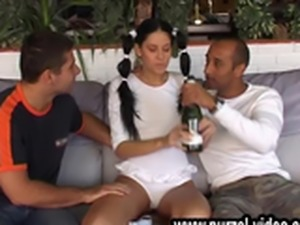 sportsgirl have a drunken party with hot oops ubskirt sex.