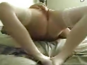 Orgasm in white panties